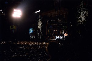Live Aid under the lights at JFK Stadium